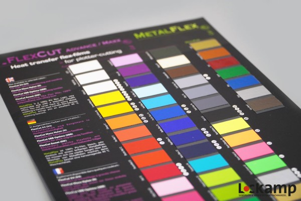 SEF Farbkarte FlexCut/Metalflex