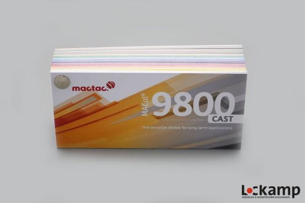 Farbfächer Mactac MACal 9800 Cast