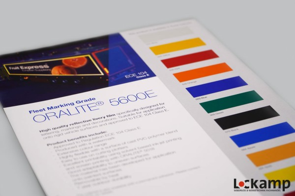 Farbkarte ORALITE 5600/5600E
