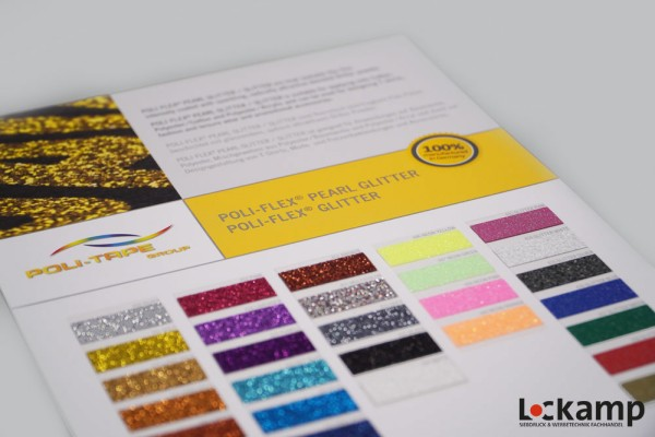 Farbkarte Poli-Tape Poli-Flex Glitter/Pearl Glitter